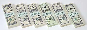 Dollar-Spielgeld Dollarscheine Spielgelddollars Silver Poker Game Dollars toymoney