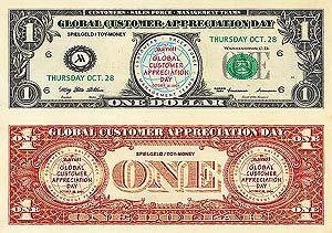 personalisierte Spielgeld-Dollar table-Dance-Dollars Filmgeld Spielgeld