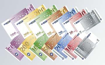 Theatergeldscheine in original Euro-Banknoten-Größe