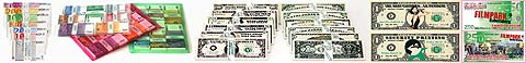 Spielgeld, Dollar Spielgeld und personalisierte Scheine