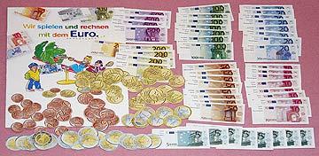Kinder Spiel Rechengeld Euros