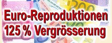 Euroscheine 125 %