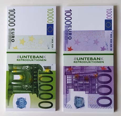 Euro ausdrucken geldscheine Geldscheine 1000