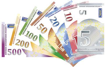 Größe Geldscheine