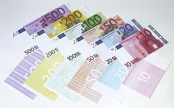Euro-Reproduktion einseitig Euroschein-Reproduktionen