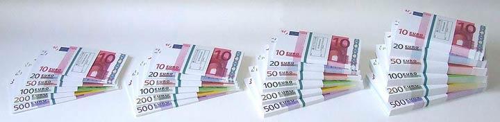 Euroscheinstapel Euroscheine Geldstapel