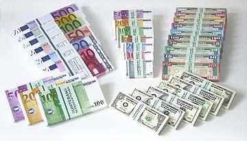 Spielgeld Dollars Spielgeld Euroscheine Filmgeld Theatergeld Spielgeld-Sortiment Uebersicht